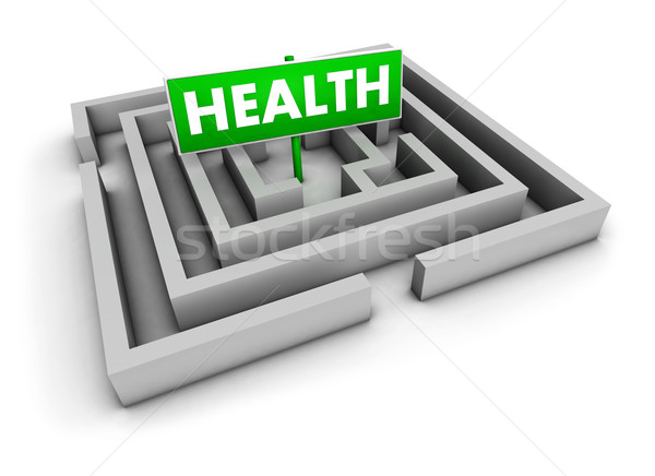 Health Labyrinth Concept Stock photo © NiroDesign