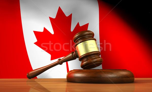 Ley justicia Canadá 3D martillo Foto stock © NiroDesign
