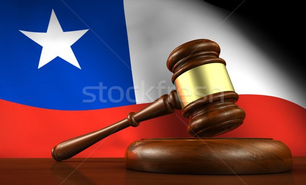 Chile Law Legal System Concept Stock photo © NiroDesign