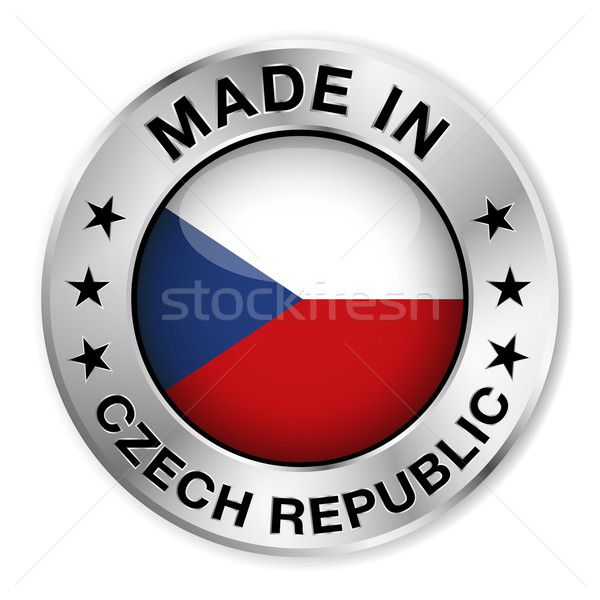 Made In Czech Republic Badge Stock photo © NiroDesign