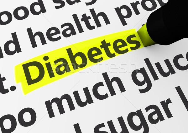 Diabète santé maladie 3D médicaux Photo stock © NiroDesign