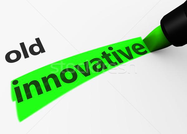инновационный против старые инновация бизнеса 3d визуализации Сток-фото © NiroDesign
