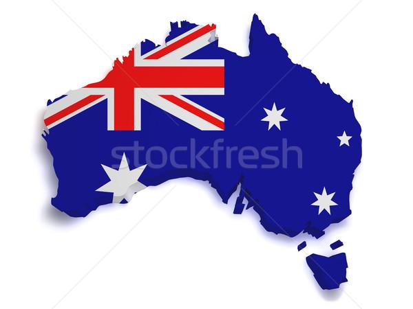 Australia Map 3d Shape Stock photo © NiroDesign