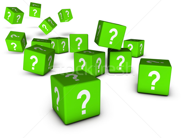 Green Question Marks Cubes Stock photo © NiroDesign