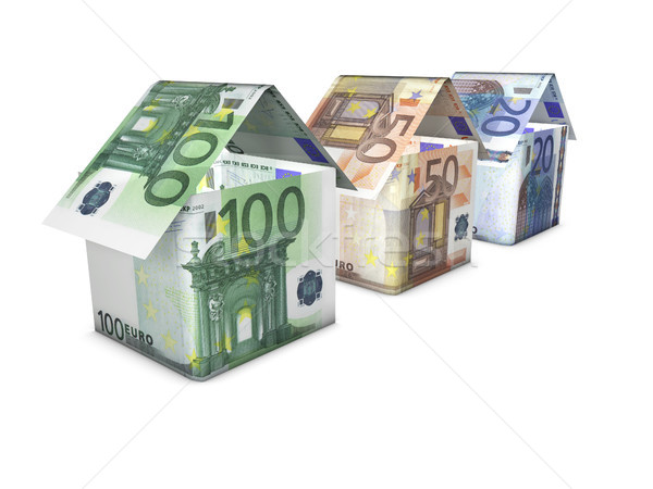 Crescita case euro immobiliari crescita Foto d'archivio © NiroDesign