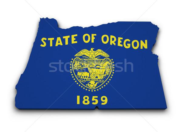 Oregon Flag Map Shape Stock photo © NiroDesign