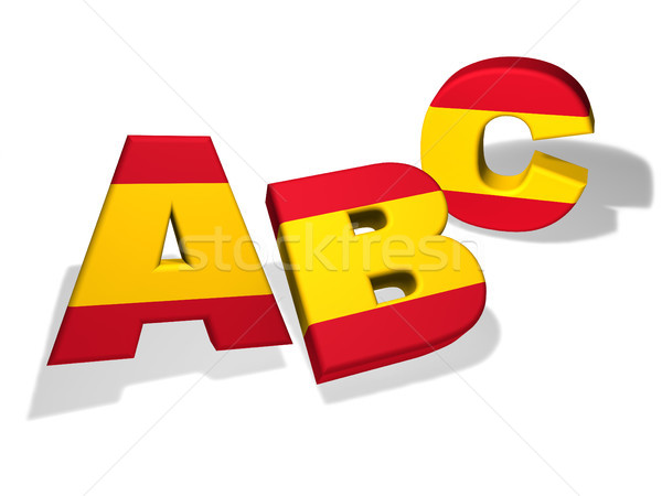 Abc Spanish School Concept Stock photo © NiroDesign