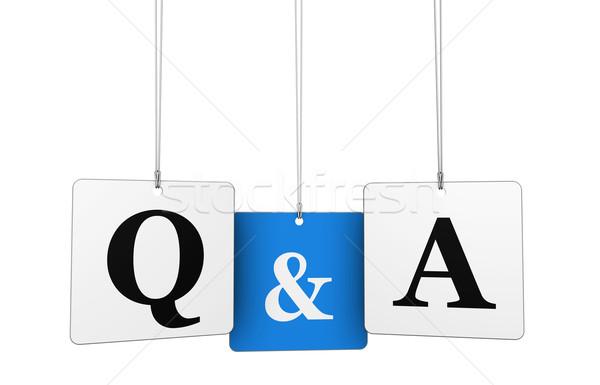 Domande risposte business web internet lettere Foto d'archivio © NiroDesign