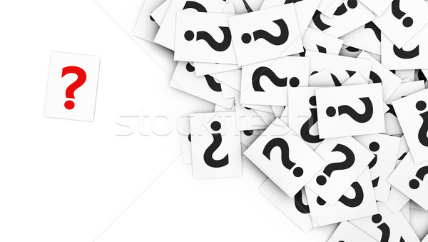Question Mark Note Paper Stock photo © NiroDesign
