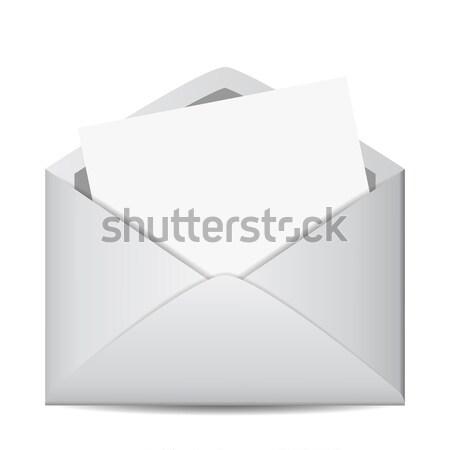 E-mail busta web icona foglio Foto d'archivio © NiroDesign