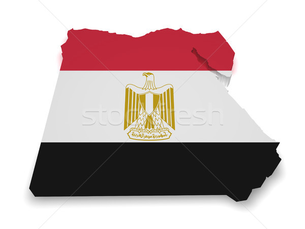 Egypt Map Flag Shape Stock photo © NiroDesign
