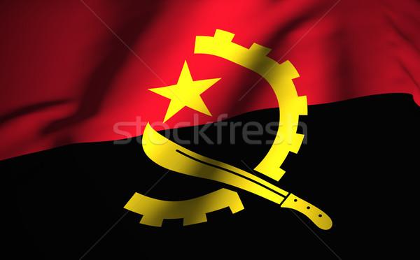 Ангола флаг фон иллюстрация текстуры Сток-фото © NiroDesign
