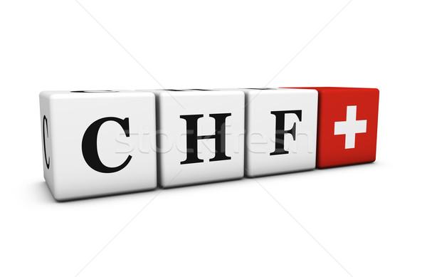 Switzerland Swiss Franc Currency Code CHF Stock photo © NiroDesign