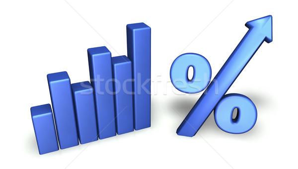 Crescita grafico verde grafico a barre percentuale simbolo Foto d'archivio © NiroDesign