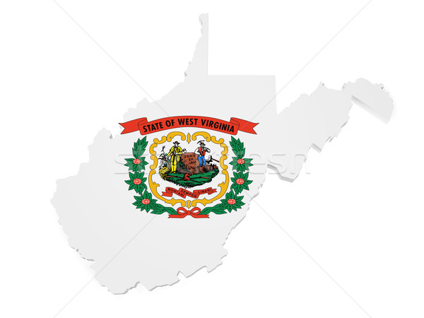 West Virginia Map Flag 3d Shape Stock photo © NiroDesign