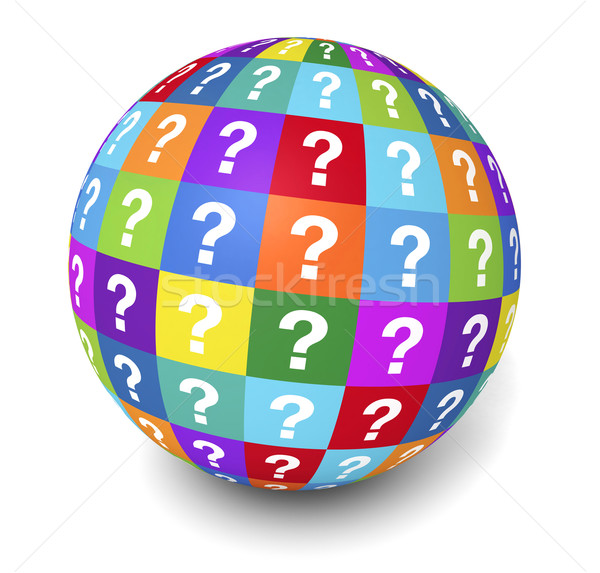 Question Mark Globe Concept Stock photo © NiroDesign