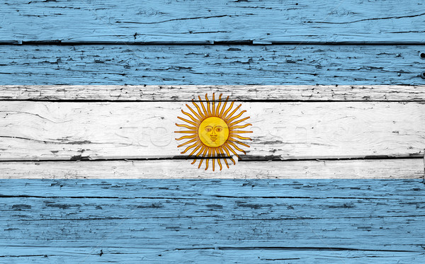 Argentina Flag Grunge Background Stock photo © NiroDesign