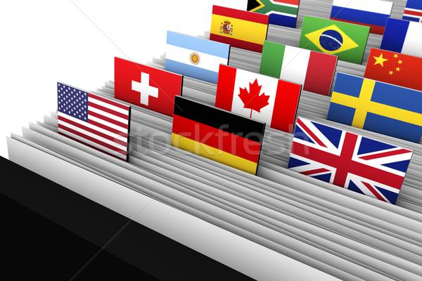 Business internazionale clienti dati globale mercato primo piano Foto d'archivio © NiroDesign