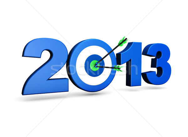 New Year 2013 Goal Stock photo © NiroDesign