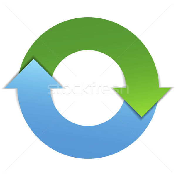 Frecce business ciclo diagramma di flusso infografica design Foto d'archivio © NiroDesign