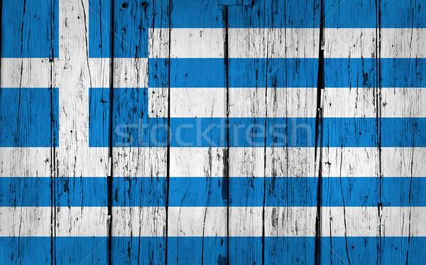 Greece Flag Grunge Background Stock photo © NiroDesign
