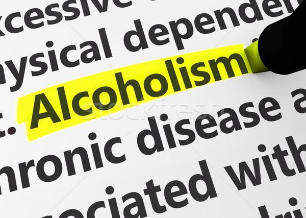 Alkolizm sosyal konular sağlık hastalık 3D Stok fotoğraf © NiroDesign