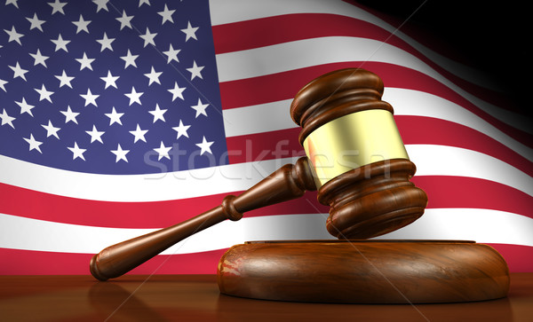 Stock photo: US Law And American Justice Concept