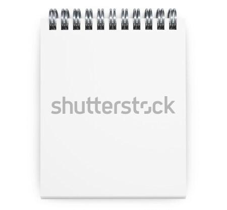 Notepad top view carta bianca pagina Foto d'archivio © NiroDesign