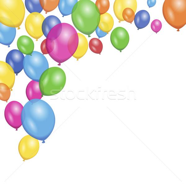 Colorido vector globos fiesta cumpleanos Foto stock © NiroDesign