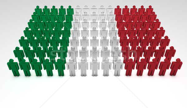 Italy Flag Parade Stock photo © NiroDesign