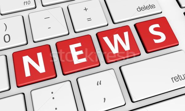 News Word On Computer Keyboard Stock photo © NiroDesign