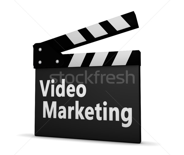 Stockfoto: Video · marketing · teken · boord · 3d · illustration · business