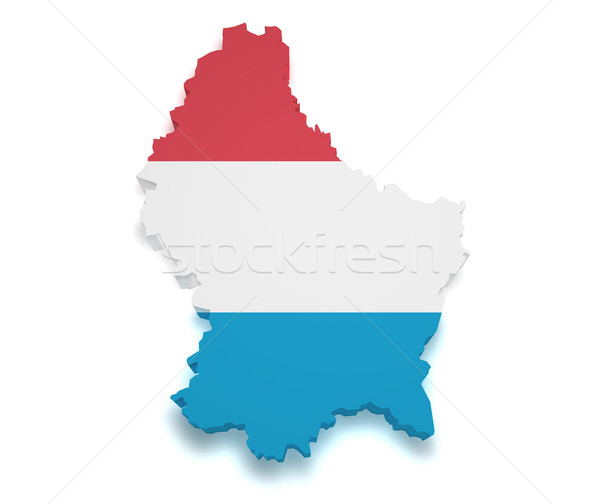 Luxembourg Map Flag 3d Shape Stock photo © NiroDesign