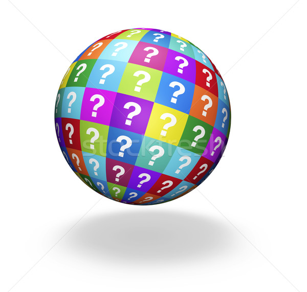Questions Mark Globe Concept Stock photo © NiroDesign