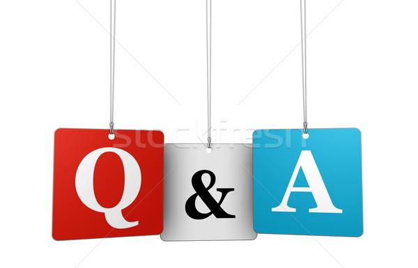 Kérdések válaszok háló internet levelek felirat Stock fotó © NiroDesign