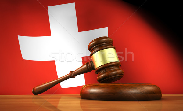 Swiss Law And Justice Concept Stock photo © NiroDesign