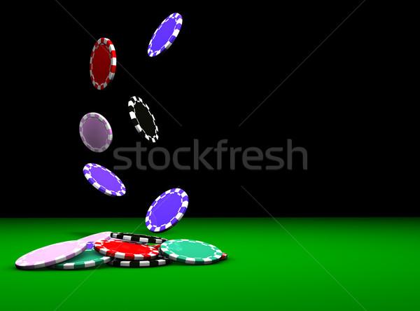 Poker Chips Falling Stock photo © NiroDesign
