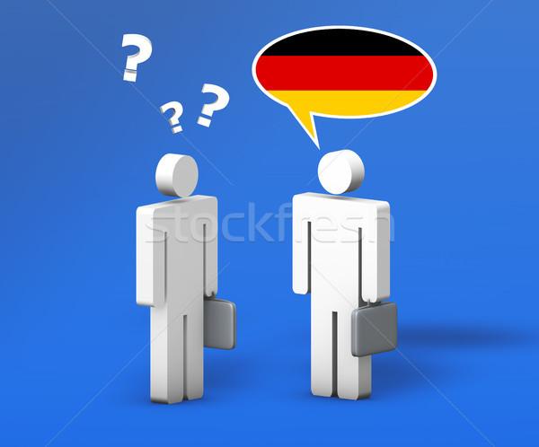 Business German Chat Stock photo © NiroDesign