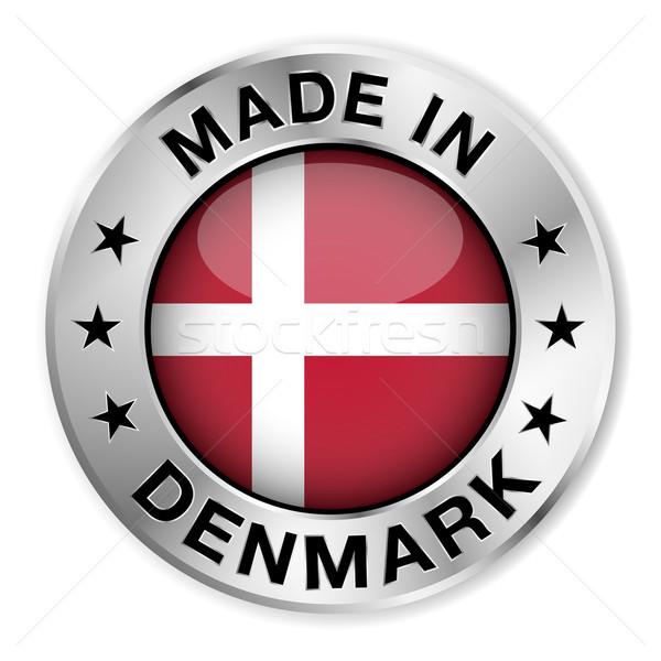 Dinamarca prata distintivo ícone central Foto stock © NiroDesign