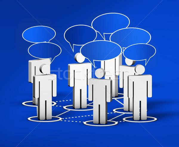 Sociale networking internet comunità social network forum Foto d'archivio © NiroDesign