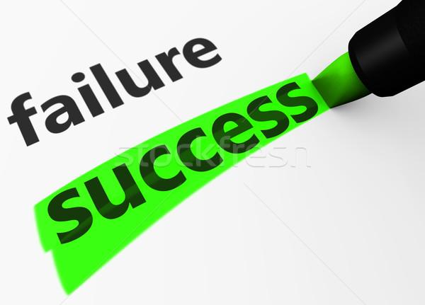 Business Erfolg vs Ausfall Geschäftsstrategie 3D Stock foto © NiroDesign