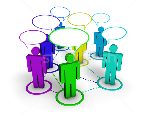 Social network comunità forum internet online gruppo Foto d'archivio © NiroDesign