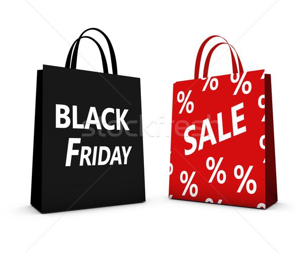 Black Friday Sale Shopping Bag Stock photo © NiroDesign