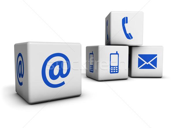 Web internet e-mail cellulare icona Foto d'archivio © NiroDesign