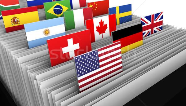 Internationale bedrijfsleven klant bestand globale markt Stockfoto © NiroDesign