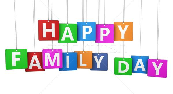 幸せな家族 日 にログイン 文字 カラフル 紙 ストックフォト © NiroDesign