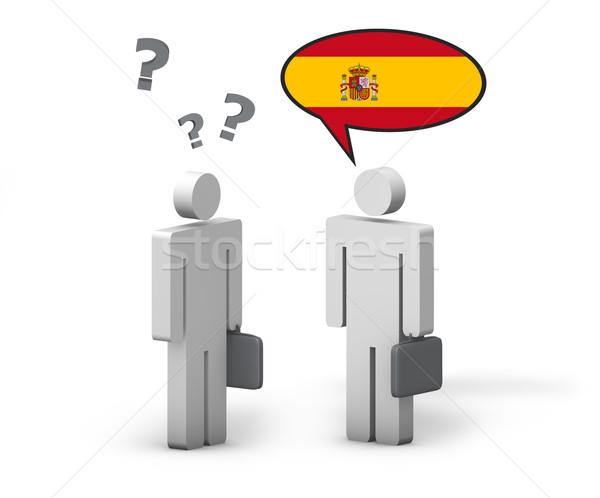 Business spagnolo lingua divertente conversazione due Foto d'archivio © NiroDesign