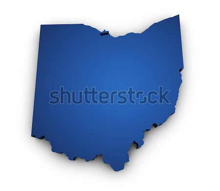 Mapa Indiana 3D forma azul Foto stock © NiroDesign