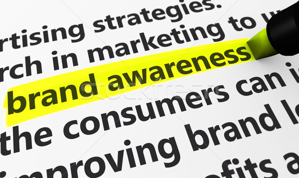 Brand Awareness Marketing And Advertising Concept Stock photo © NiroDesign