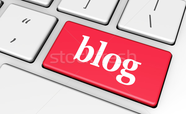 Blog web laptop chiave segno parola Foto d'archivio © NiroDesign